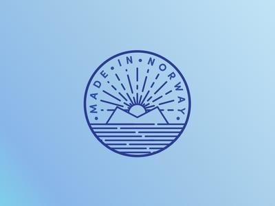 Made In Norway logo line art illustration