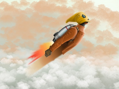 The Rocketeer applepencil ipadpro ipadproart ipad rocket disney the rocketeer procreate app procreate illustration