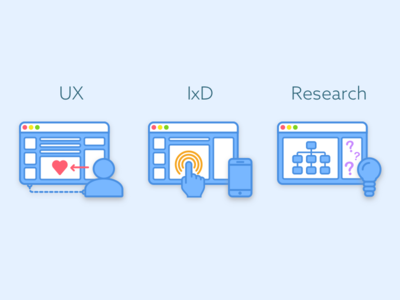 Design Icons portfolio research ixd ux icon