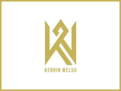 Kerrin Welsh DJ Logo gold vegas dj night djs design illustration visual branding vector logo