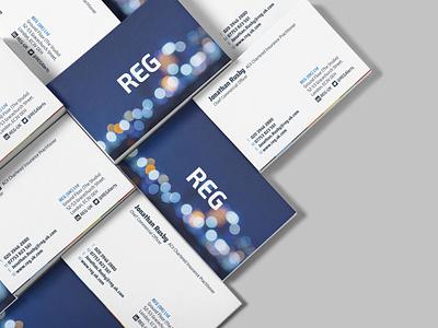 REG Business Cards business card design business cards business card graphic design print design printing print designs brand branding design brand identity brand design typography minimal branding design