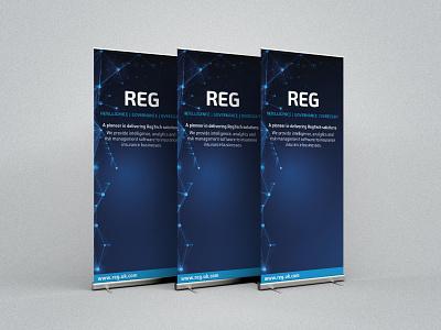 REG Exhibition Rollup Banner exhibition design exhibit design exhibition rollup banner rollup print design print graphic design designs design branding design branding brand identity brand design brand