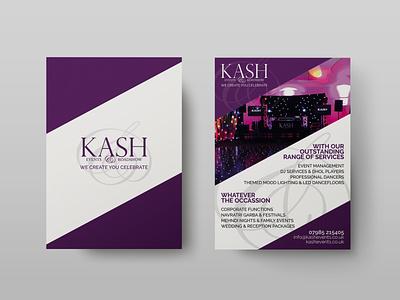 Kash Events Flyer events management events a5 flyer leaflet design leaflets leaflet flyers design flyer design flyers flyer print design print graphic design designs design branding design branding brand identity brand design brand