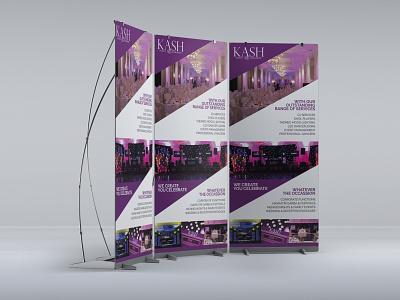 Kash Events Roll Up Banner exhibition design exhibit design exhibition roll up banner design roll ups roll up print design print graphic design designs design branding design branding brand identity brand design brand