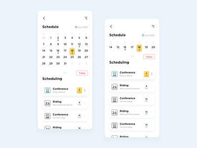 Schedule reminder application design app ui