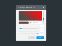 Custom Colour Selector dialog