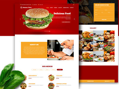 Html Fast Food Restaurant Template ui ux web responsive responsive design responsive website design landing page design website restaurant food html css css3 css html5 html