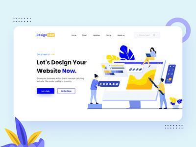 Web design Agency clean minimal website worthy latest tanviruiux eyecatching oline webpage homepage landingpage agency web illustration vector ux ui graphic design design