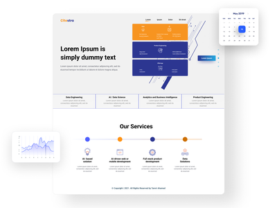 It's a Landing page for creative  agency. homepagedesign webpagedesign webpage illustration homepage landing page graphic design ui