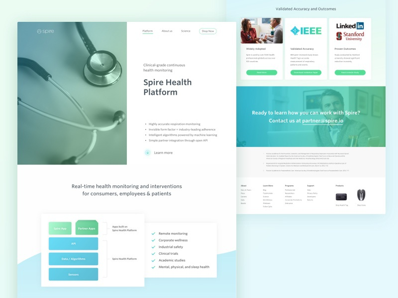 Health platform website
