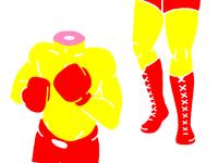 Beheaded boxer