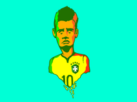 Neymar + 10 World cup 2014