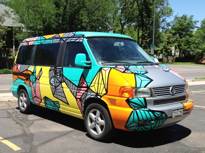 Custom Eurovan Paint Job Full Shot By Debbie Clapper Dribbble - Cool painted cars