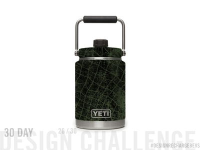 Proposed custom YETI design 26/30 blackwork packaging mockup abstract art licensing branding hand drawn geometric illustration camping op art patterns fishing net fish net geometric packaging design illustration pattern textile design abstract art surface design pattern design