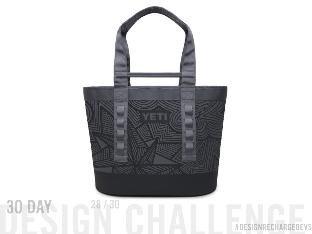 Proposed custom YETI design 28/30 hand drawn lineart drawing abstract freehand swag tote bag blackwork op art art licensing geometric illustration design branding geometric textile design abstract art surface design pattern design illustration pattern