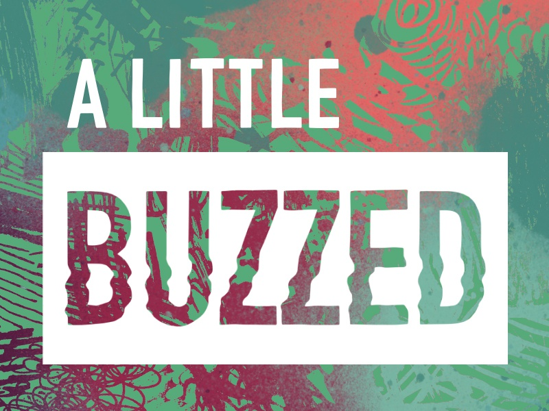 A Little Buzzed Logo Concept 1 urban colorful design graphic design cover cover art key art graphicdesign textures buzz modern design typography lettering branding abstract logotype podcast identity logo