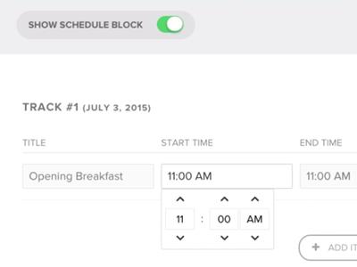 Schedule Input nvite dashboard
