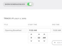 Schedule Input