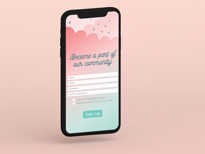 Sign up Page 100daysui web flat ui design