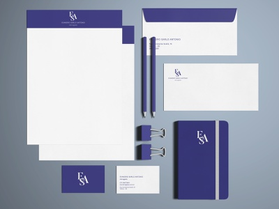 ESA Attorney logo branding design