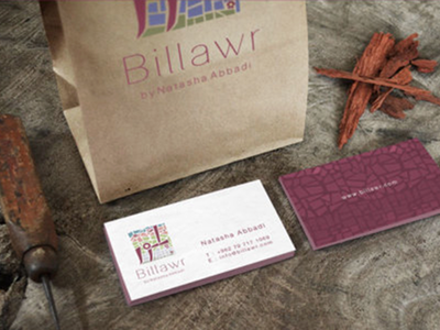 Billawr | Handmade Mosaic mosaic art brand logo mockup bags card
