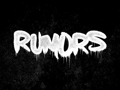 Rumors typography horror drippy drips