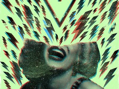 The Devil Wears Prada Tour Poster bolts halftone distress