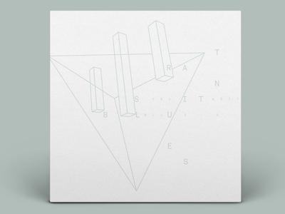 The Devil Wears Prada - Transit Blues mono grid minimal album art