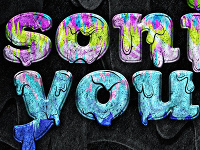 Sonic Youth Tour Poster texture type sonic youth tour