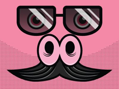 Macho Pig illustrator pig macho mustache
