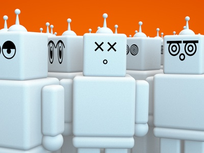 Bots! cinema 4d 3d robot bots silly