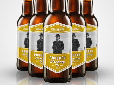 Prudden Brewing - London Brown beer label london brew bottle