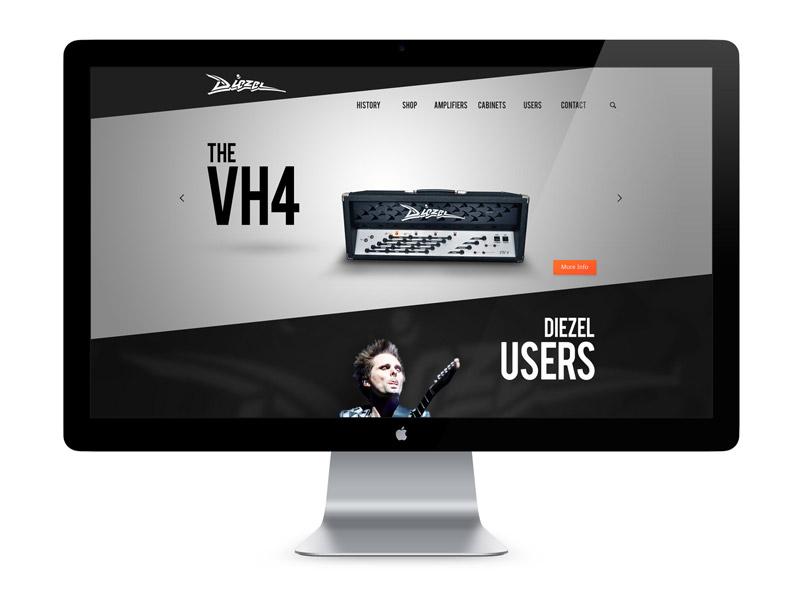 Diezel Site Shot website web design web design development graphic interface user interface creative amp amplifier guitar e-commerce