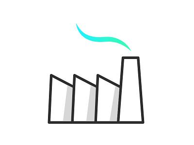 Ideas Factory Logo grey white black gradient colour illustrator design branding ideas logo
