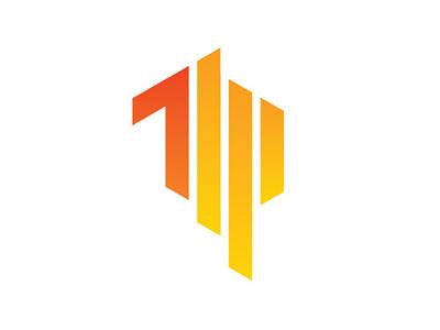 Trustco Media Logo red orange design logo icon brand branding identity app development app icon graphic design typography type t m