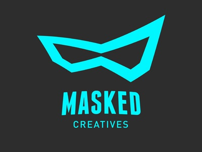 Design Studio Logo logo identity icon design illustration vector blue grey gray masked creatives graphic studio creative art
