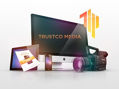 Trustco Media Website ios iphone ipad app apple imac website design illustration colour composition photo illustration digital creative blue camera clean