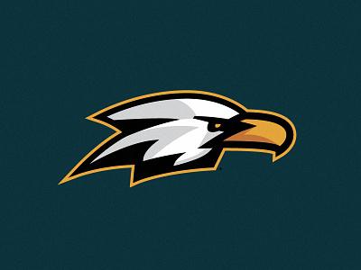Team Eagle strong bold system mark icon team bird illustration fast sports logo eagle