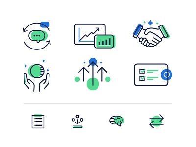Icon Suite illustration corporate digital startup suite set branding icon