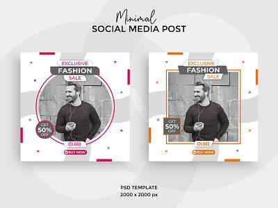 Fashion sale social media post or banner social network