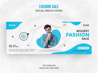 Fashion sale social media cover template brand design ads design banners ads social media ad landscape banner page cover facebook cover trend fashion instagram facebook psd instagram post discount social network template facebook post social media post