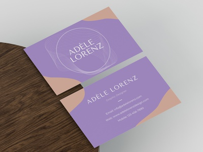 Business Card lineart graphic design aesthetic pink purple ui business card design graphic design minimal business card business branding