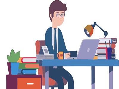 writing email vector design children art cartoon cartoon illustration illustration cartoon art