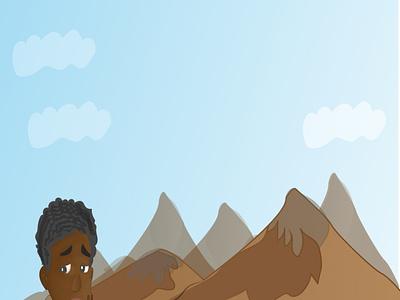 Afrian chilfren book design cartoon art cartoon illustration illustration