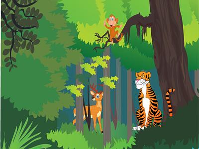 The mangrove sundarbon design cartoon illustration illustration cartoon art