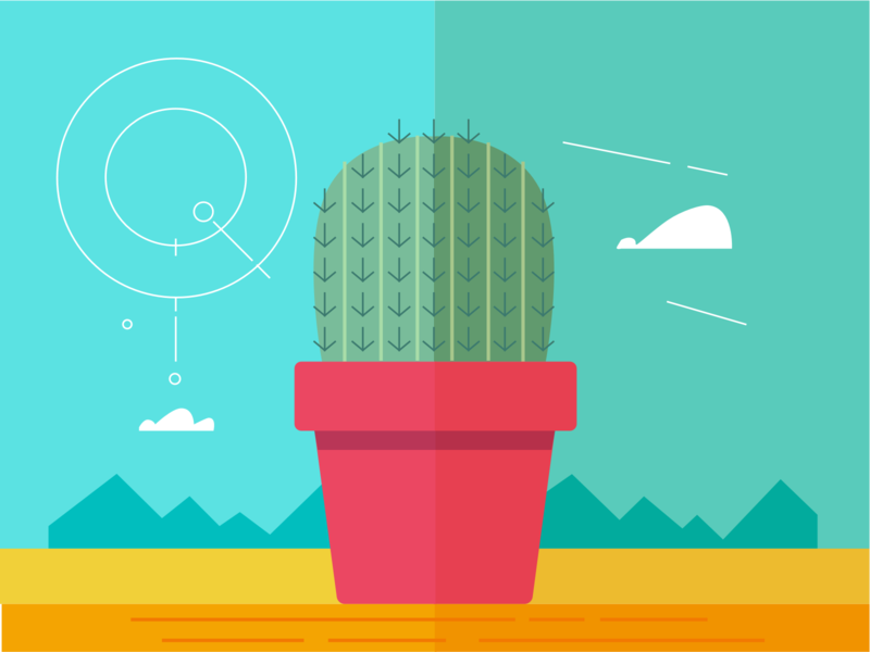 Cactus Illustration sketch graphics graphic design creative design colorful design artwork design illustration