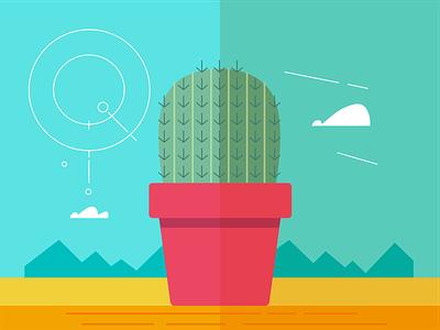 Cactus Illustration sketch graphics graphic design creative design colorful design artwork design illustration