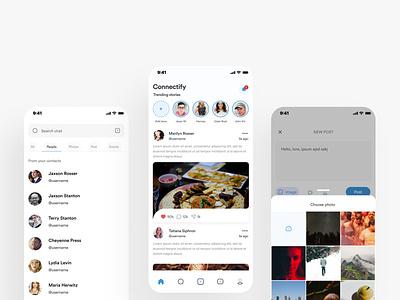 Social Media App mobile design mobile ui design mobile app design mobile ui ui design uiux