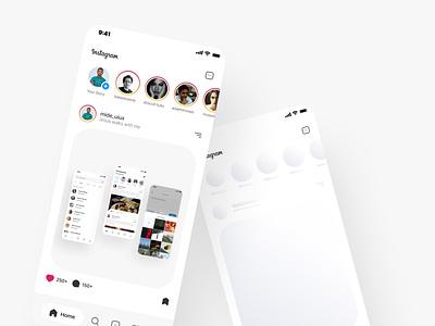 Instagram Redesigned mobile app design mobile ui ui design instagram post instagram uiux ui