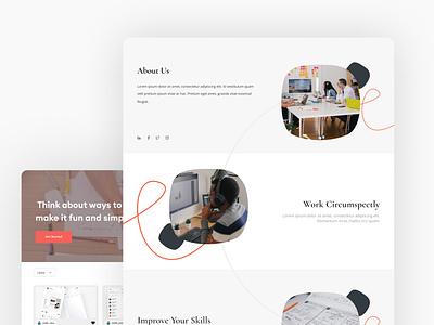 dailyUI About Page ui design uiux webui web
